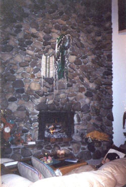 Sun Valley Vacation Rental cabin's fireplace