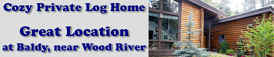 Sun Valley Vacation Rental Lodging in Ketchum Idaho has a great location at Baldy, near Wood River