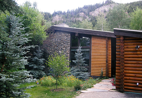 ... over 30 evergreen, aspen, and deciduous trees and shrubs. plus VIEWS